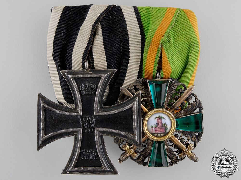 A Fine First War Order of Zahringer Lion Medal Pair