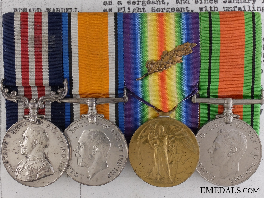 A Fine Military Medal for Balloon Service under Enemy Shelling