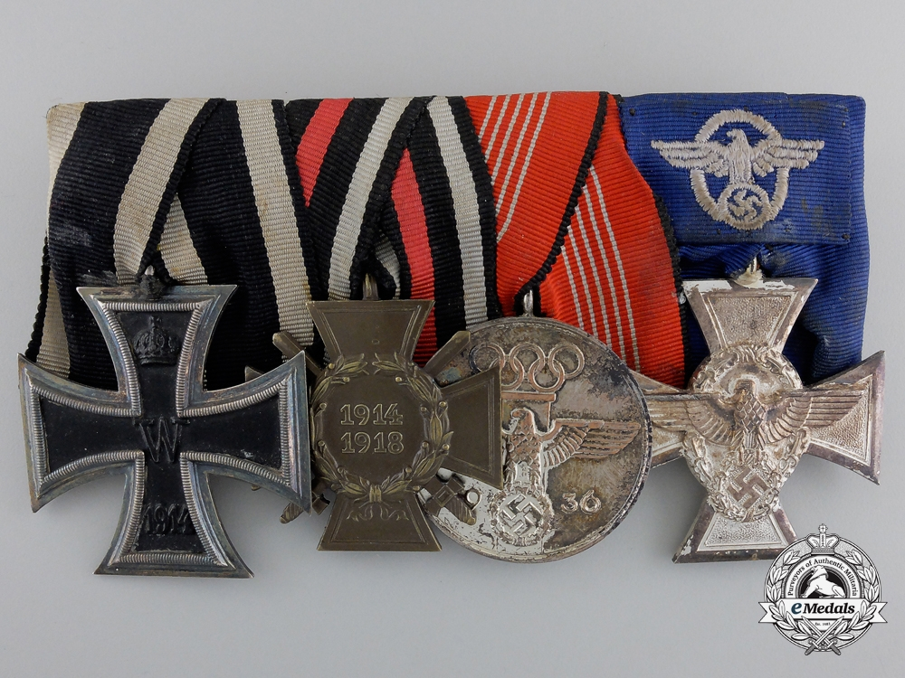 A Fine Olympic & Police German Medal Bar