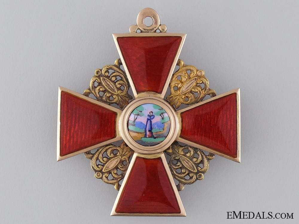 A Fine Order of St. Anne in Gold by Albert Keibel; 2nd Class