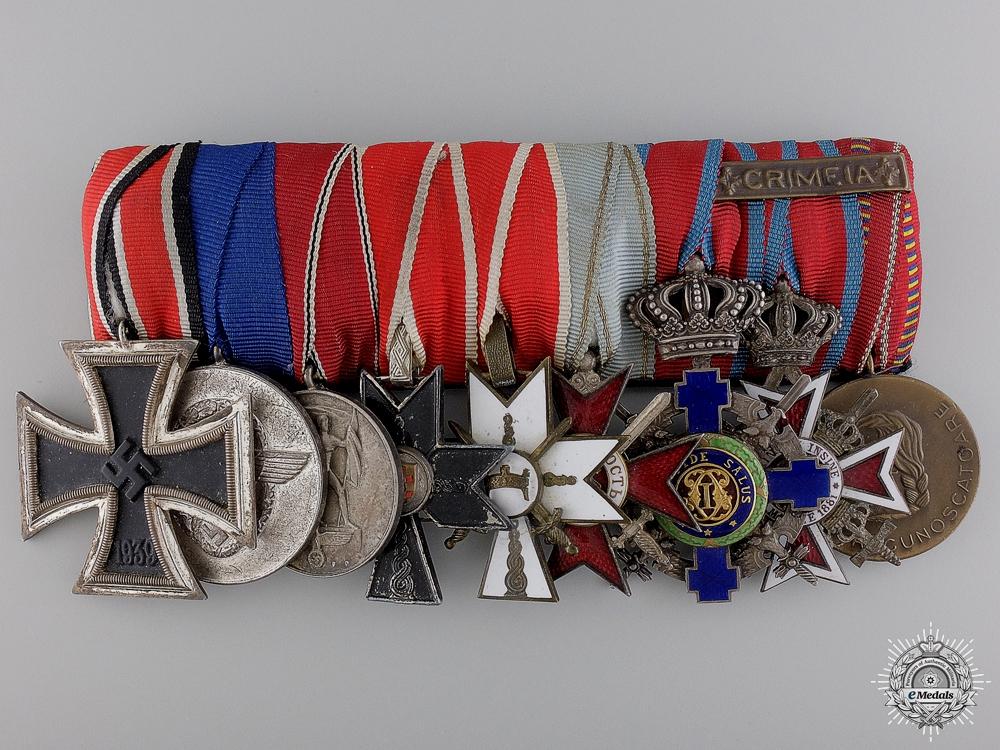 A Fine Second War Unusual German Policeman's Medal Bar