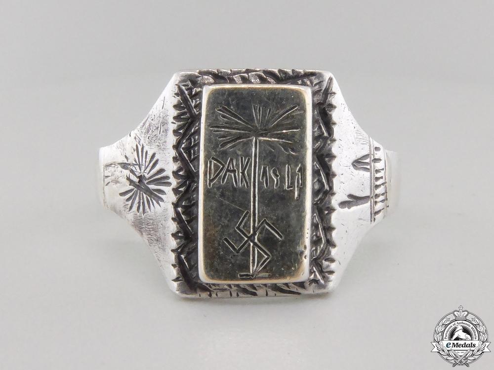 A Fine Silver DAK (Deutsches Afrikakorps) Ring