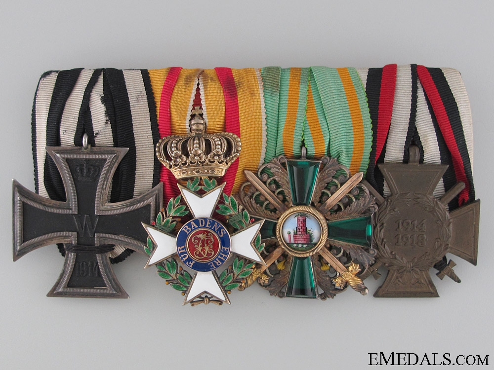 A Fine Military Karl Friedrich Merit Order Medal Bar