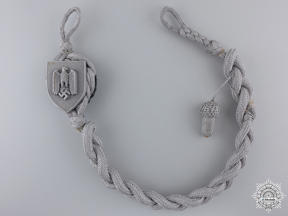 A First Type Army Marksman's Lanyard; Grade II