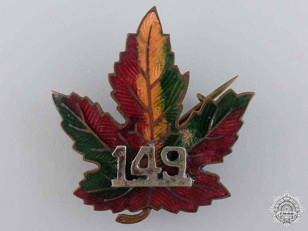 A First War 149th Canadian Battalion Badge
