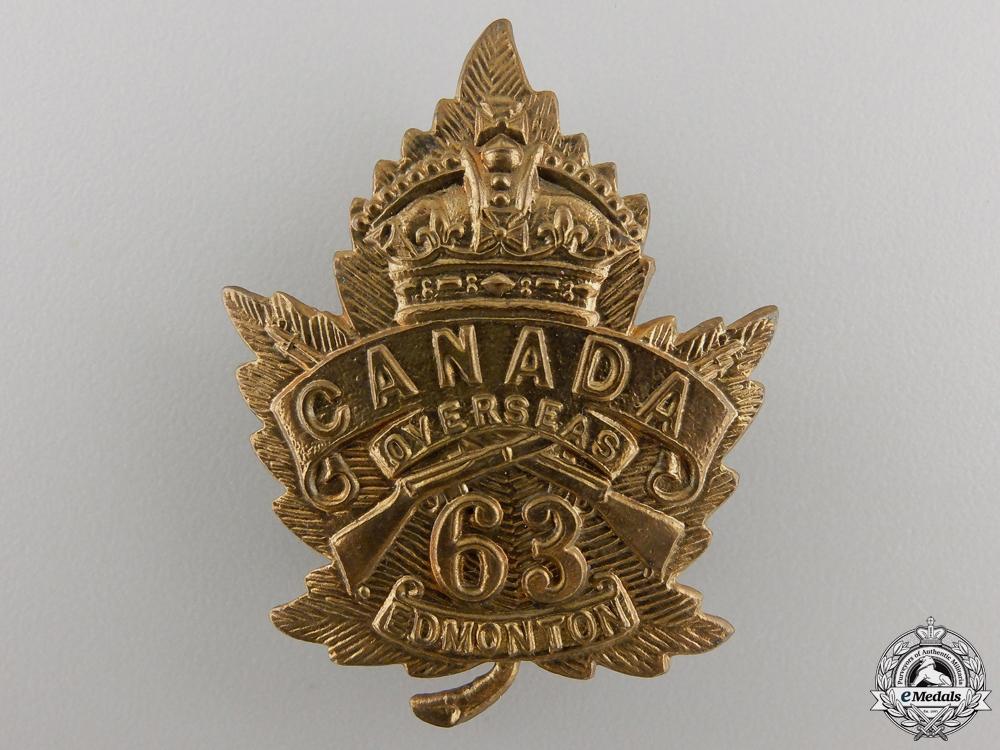 A First War 63rd Battalion Cap Badge