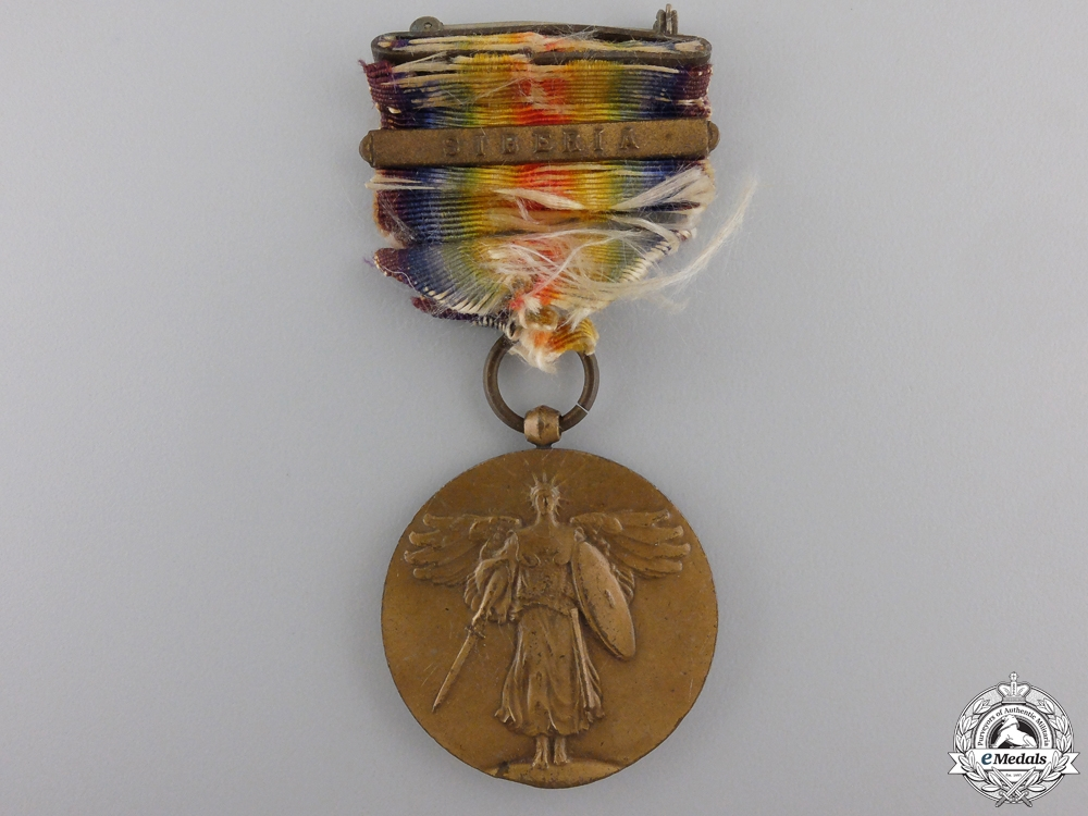 United States. A Victory Medal; Siberia Clasp