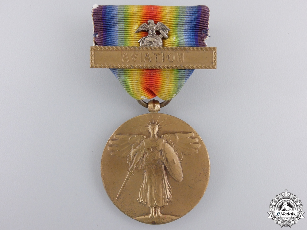 A First War American USMC Victory Medal; Aviation Clasp