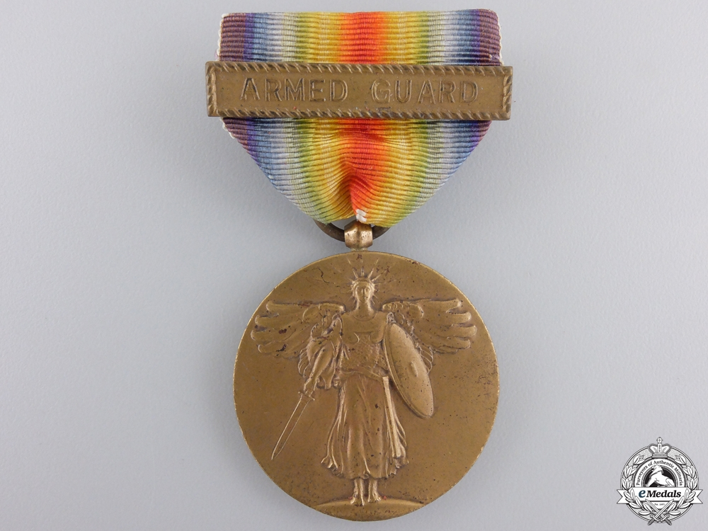 A First War American Victory Medal; Armed Guard Clasp