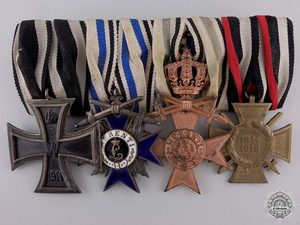 A First War Bavarian Order of Military Merit Medal Bar