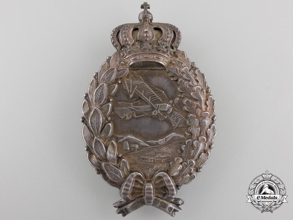 A First War Bavarian Pilot's Badge by  Karl Poellath