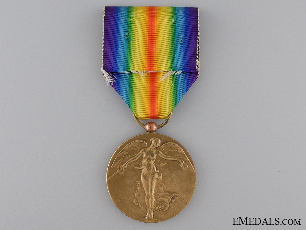 A First War Belgian Victory Medal; Official Type I
