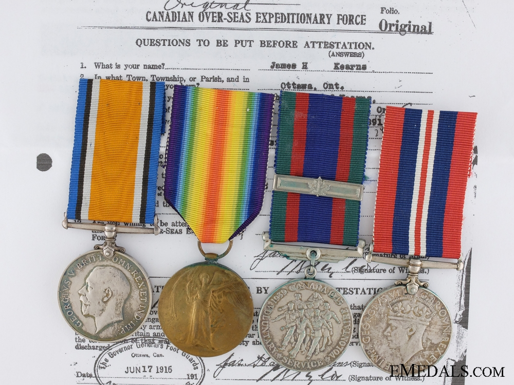 A First War Canadian Medal Pair to the 2nd Infantry Battalion