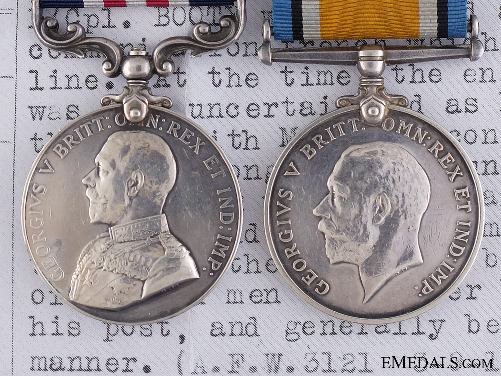 A First War Canadian Military Medal for Machine Gunnery 1917