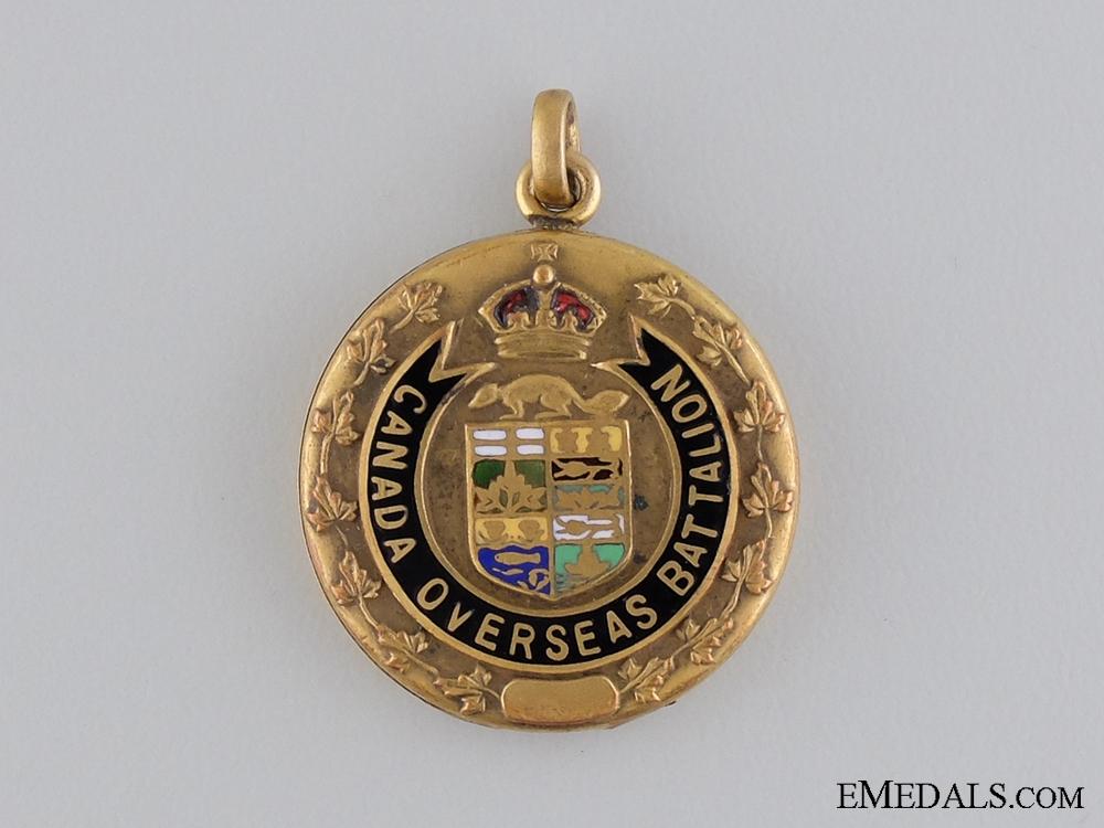 A First War Canadian Overseas Battalion Locket