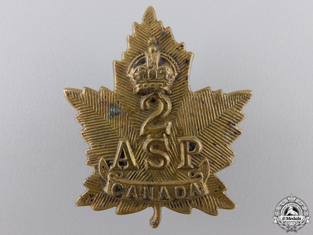 A First War Canadian 2nd Ammunition Sub Park Company Collar Tab