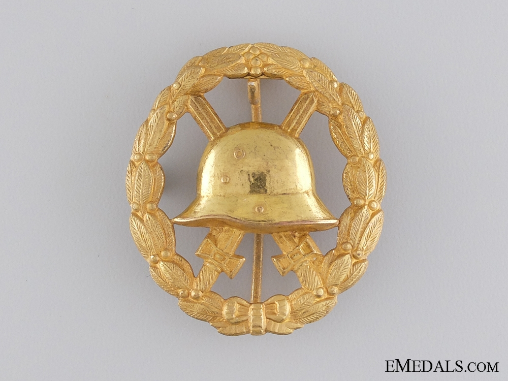 A First War German Wound Badge; Gold Grade