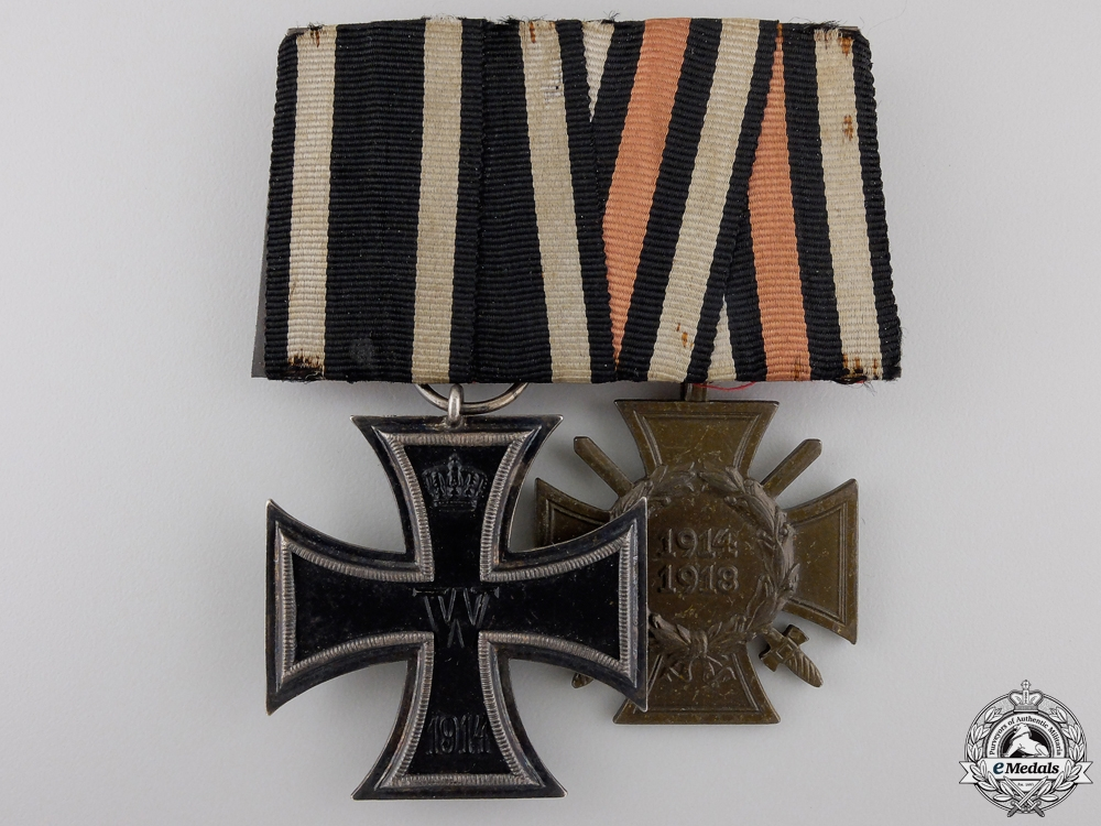 A First War German Imperial Iron Cross Medal Pair