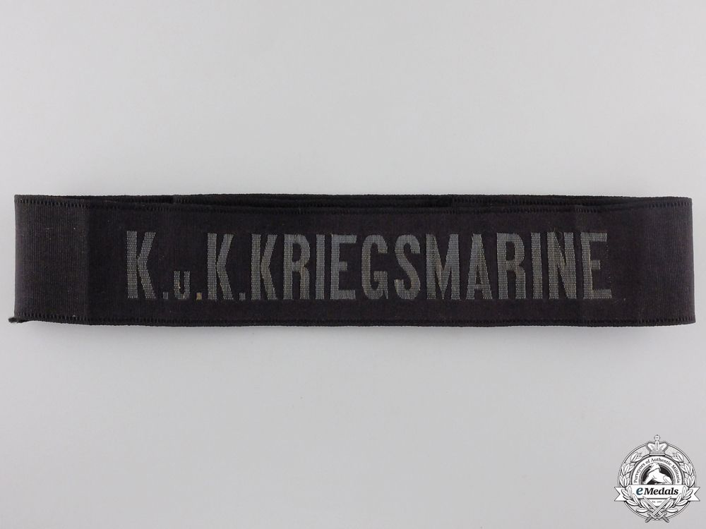 A First War German Kriegsmarine Tally Ribbon