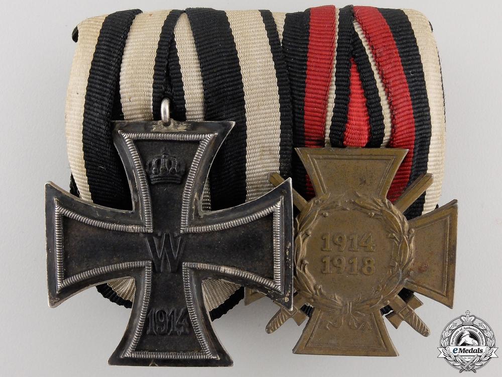 A First War German Imperial Iron Cross Medal Pair