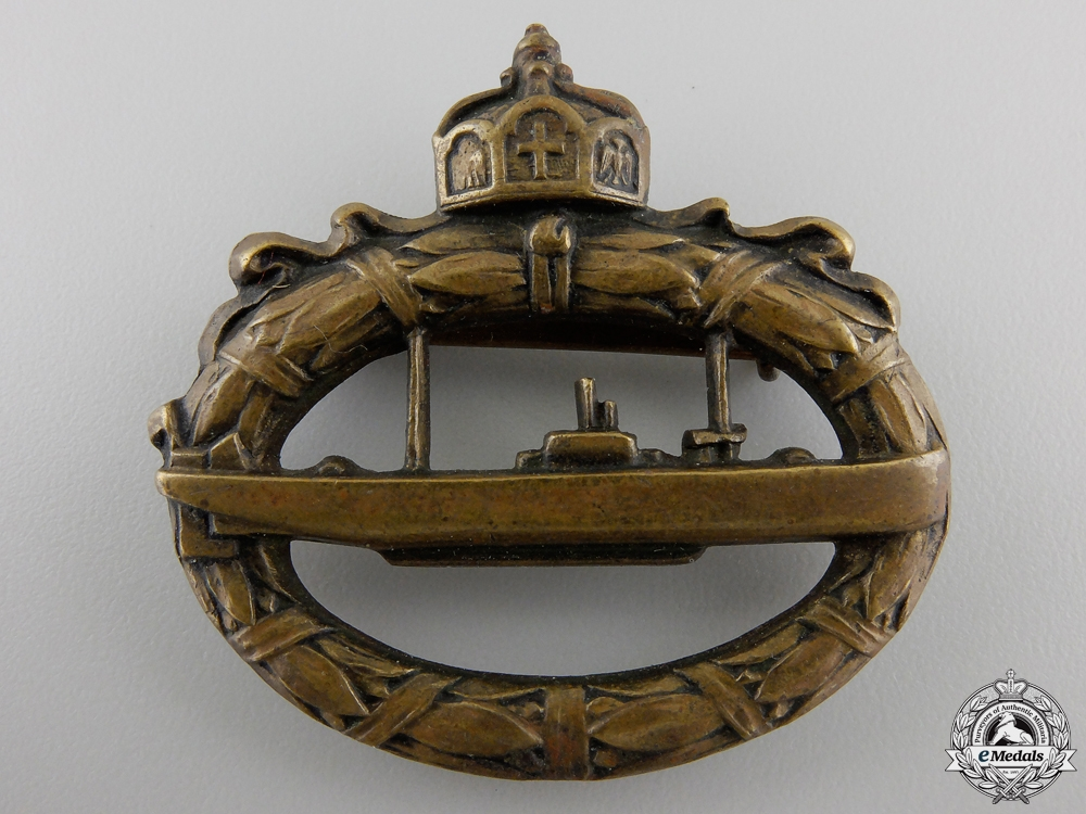 A First War German Imperial Submarine Badge by Walter Schot