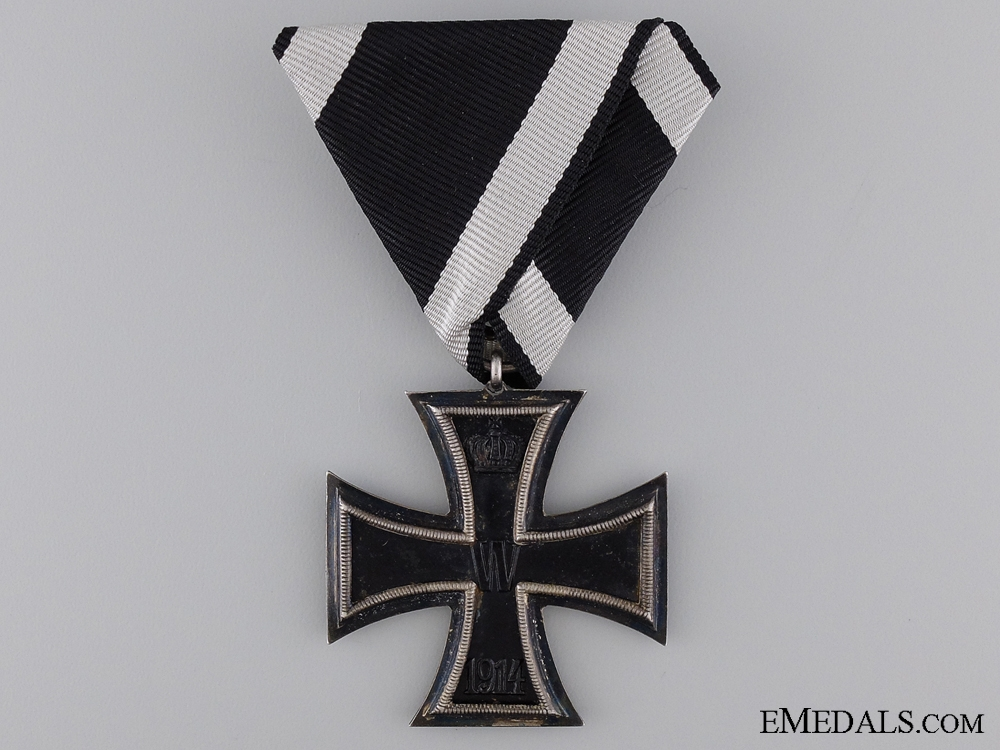 A First War Iron Cross Second Class on Austrian Ribbon & Marked
