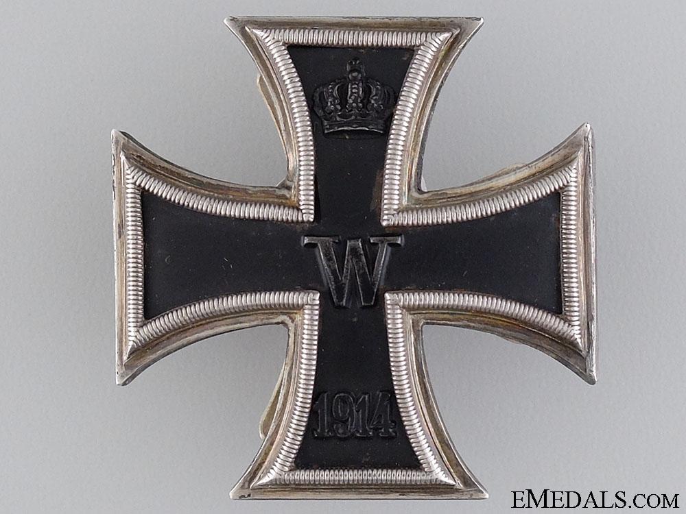 A First War Iron Cross 1st Class 1914; Marked D.R.G.M.