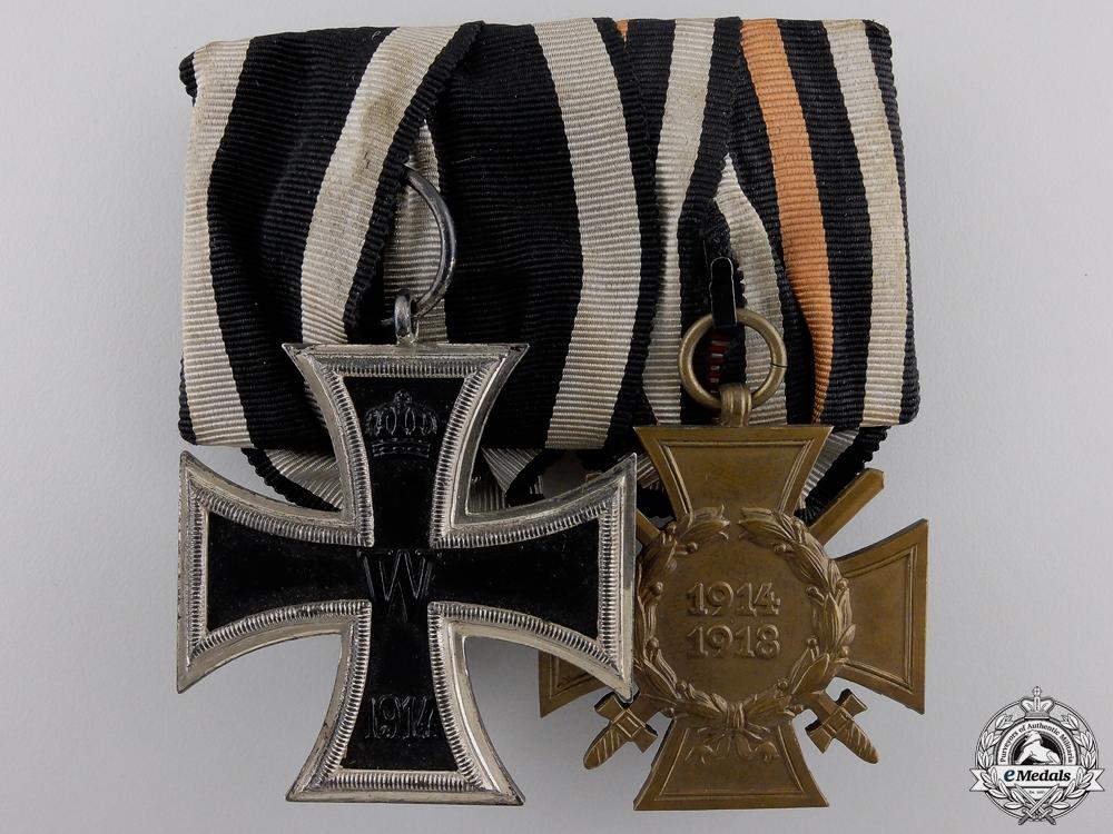 A First War Iron Cross Medal Pair