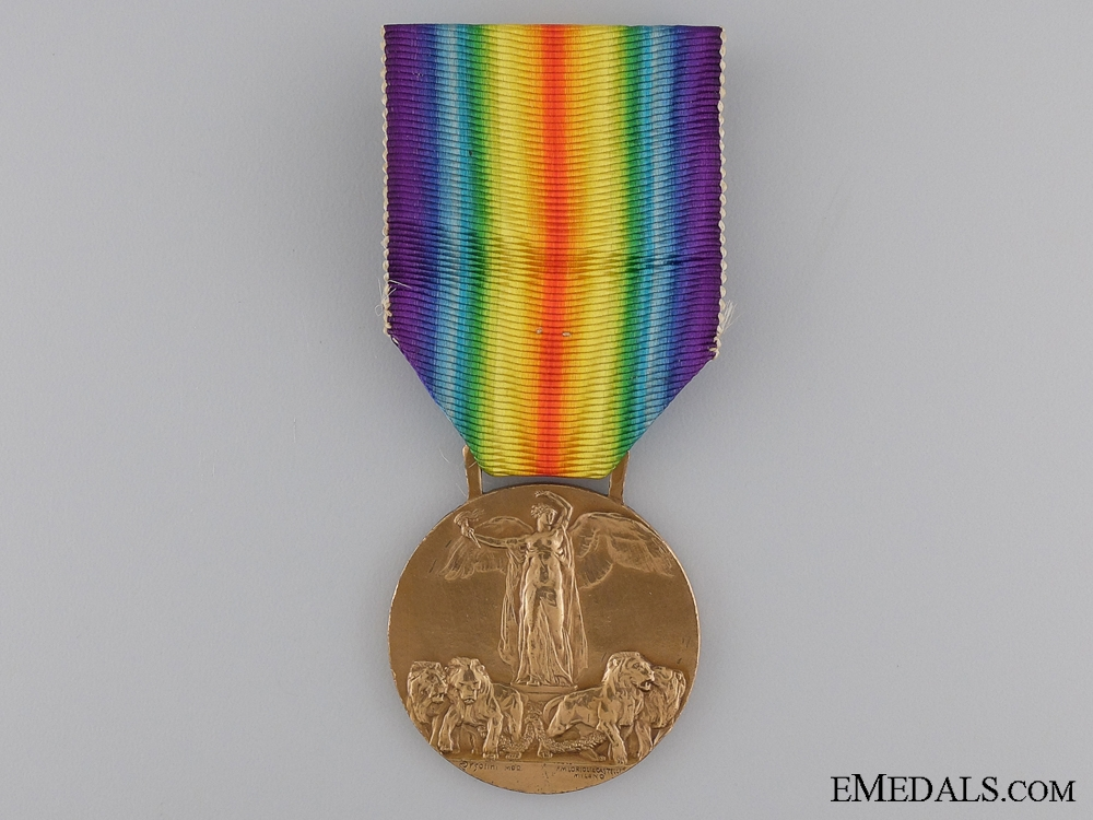 A First War Italian Victory Medal; Official Type III