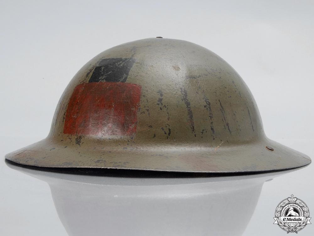 A First War Mark I 16th Infantry Battalion; 1st Canadian Division Helmet