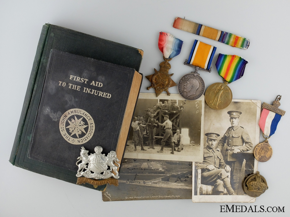 A First War Medal Group & Documents to the 59th Field Ambulance