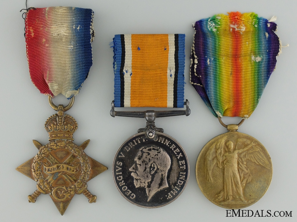 A First War Medal Group to Piper Neilson; Royal Highlanders