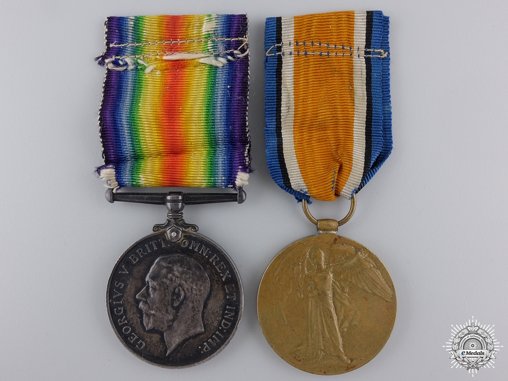 A First War Medal Pair to the 58th Canadian Infantry