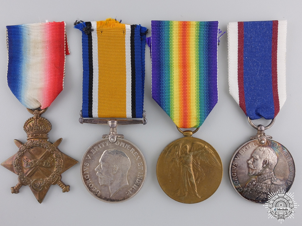 A First War Medal Group to the Royal Marines