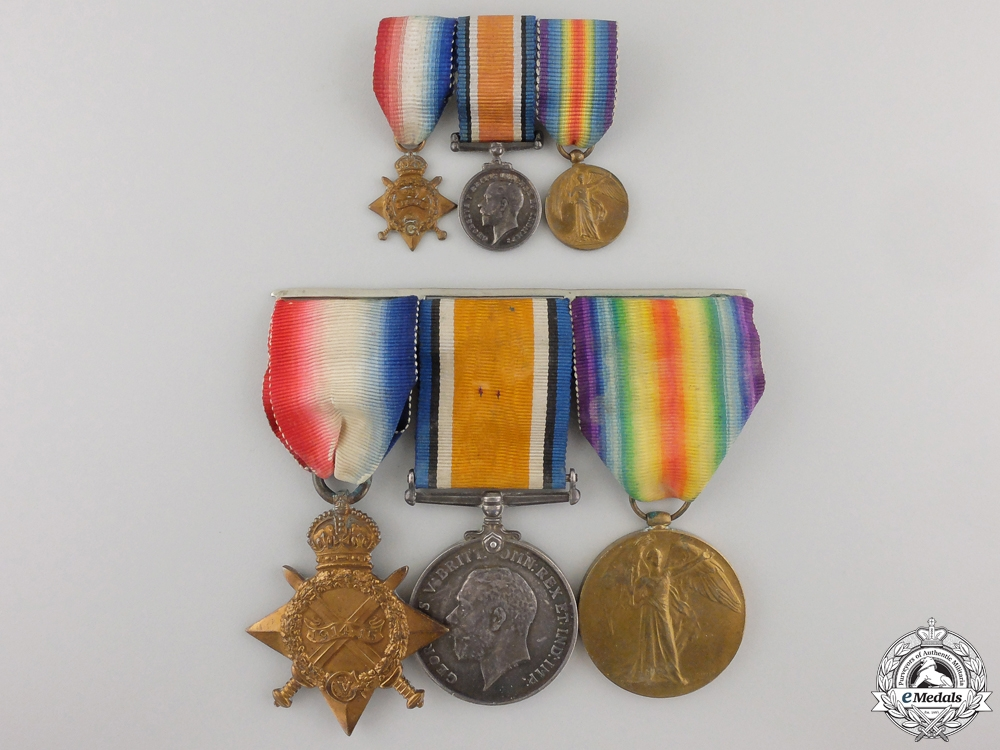 A First War Medal Trio to Lieut. of Army Cyclist Corps