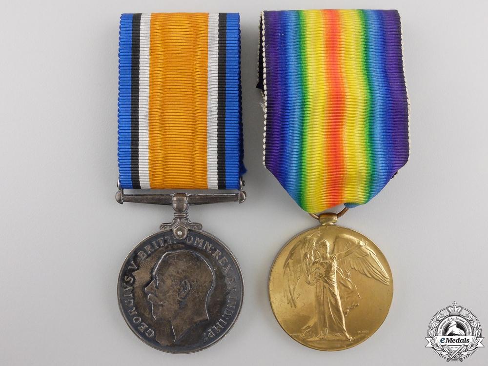 A First War Medal Pair to the Canadian Machine Gun Brigade