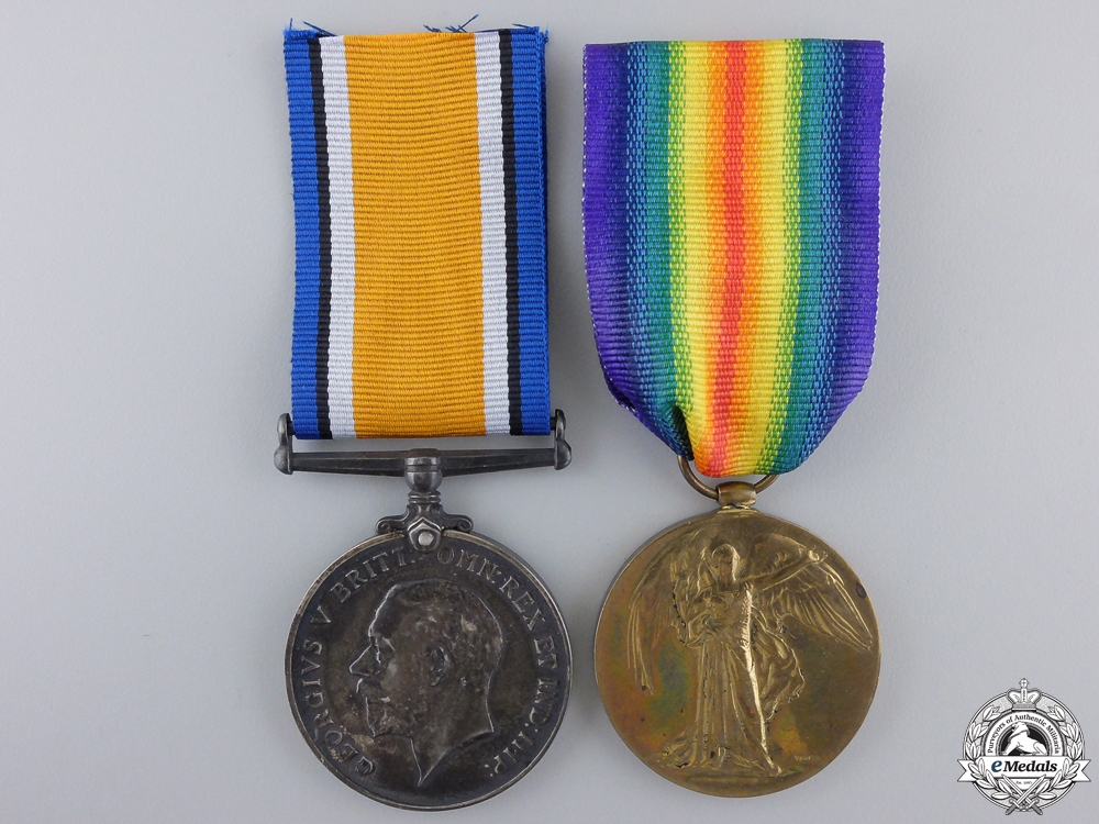 A First War Medal Pair to the Canadian Machine Gun Brigade