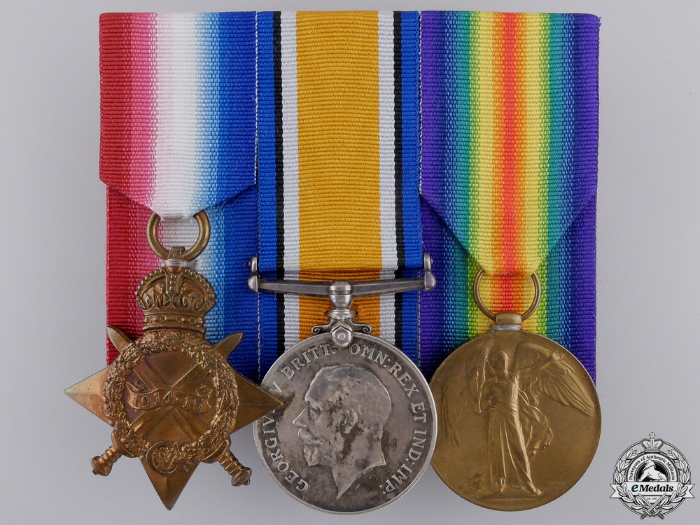 A First War Medal Group to the Second Canadian Infantry CEF