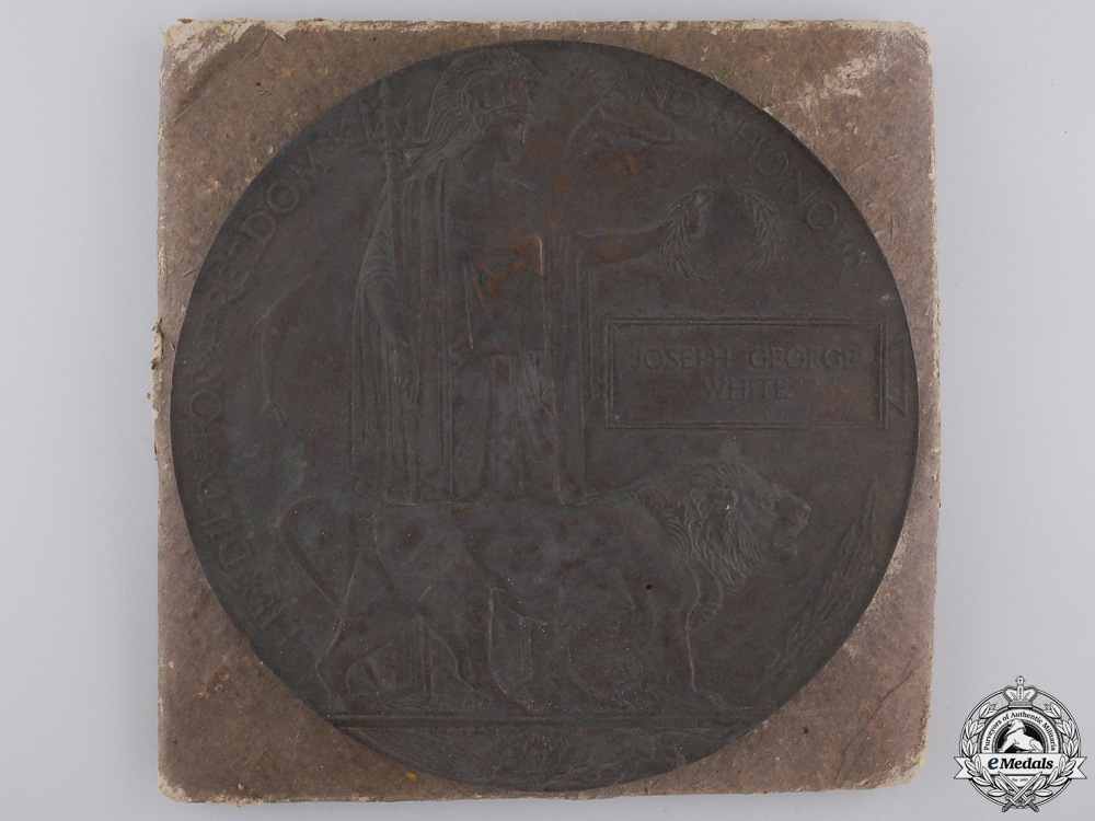 A First War Memorial Plaque to the 19th Canadian Infantry; Passchendaele