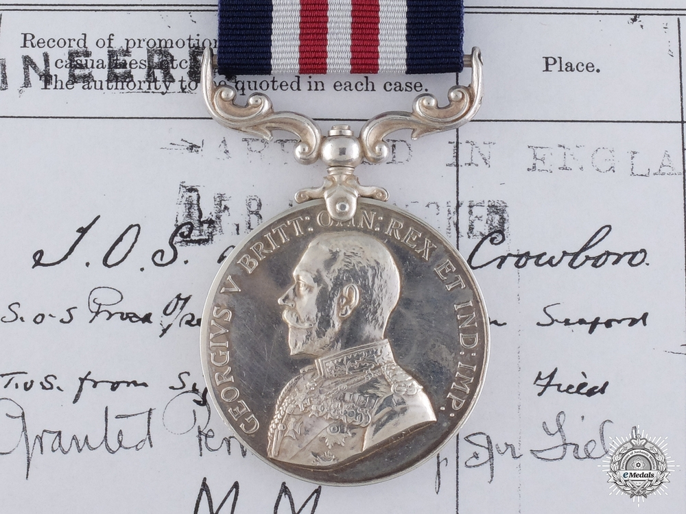 Canada, CEF. A Military Medal to an India Born Canadian Engineer