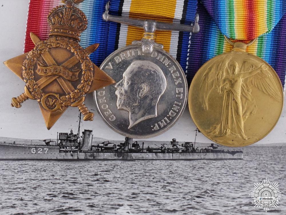 A First War Naval Group to Lieutenant Commander (Engineer) Fox