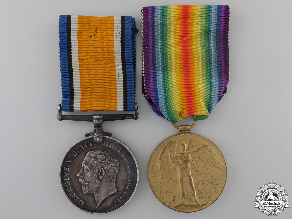 A First War Pair to the Royal Army Medical Corps