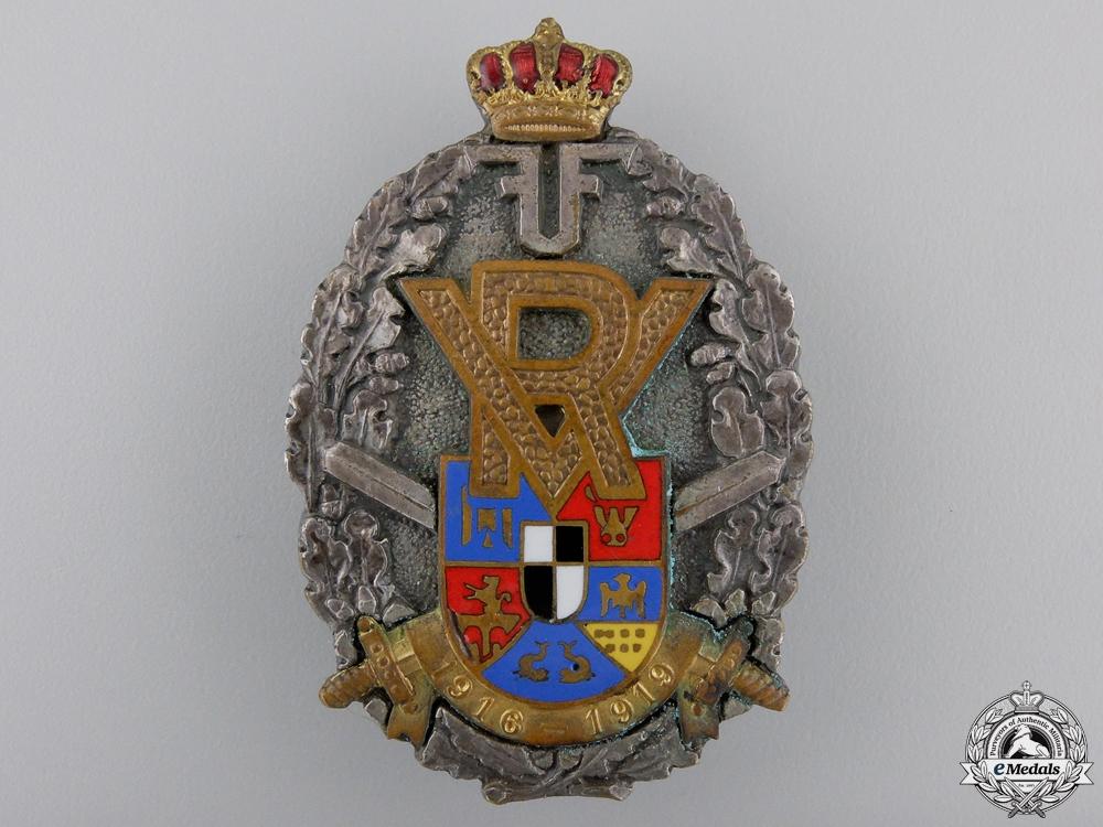A First War Romanian Volunteer Officer's Badge