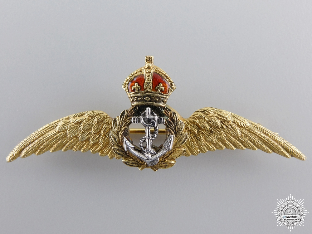 A First War Royal Naval Air Service Wings in Gold   Consignment # 14