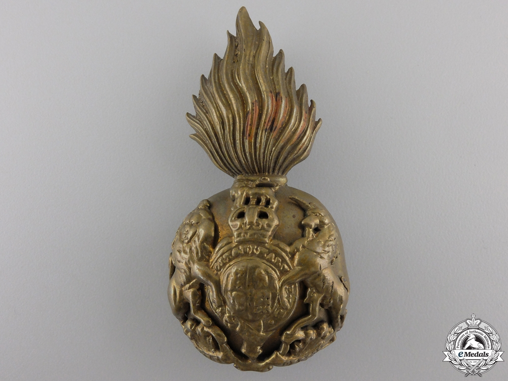 A First War Royal Scots Fusiliers Cap Badge