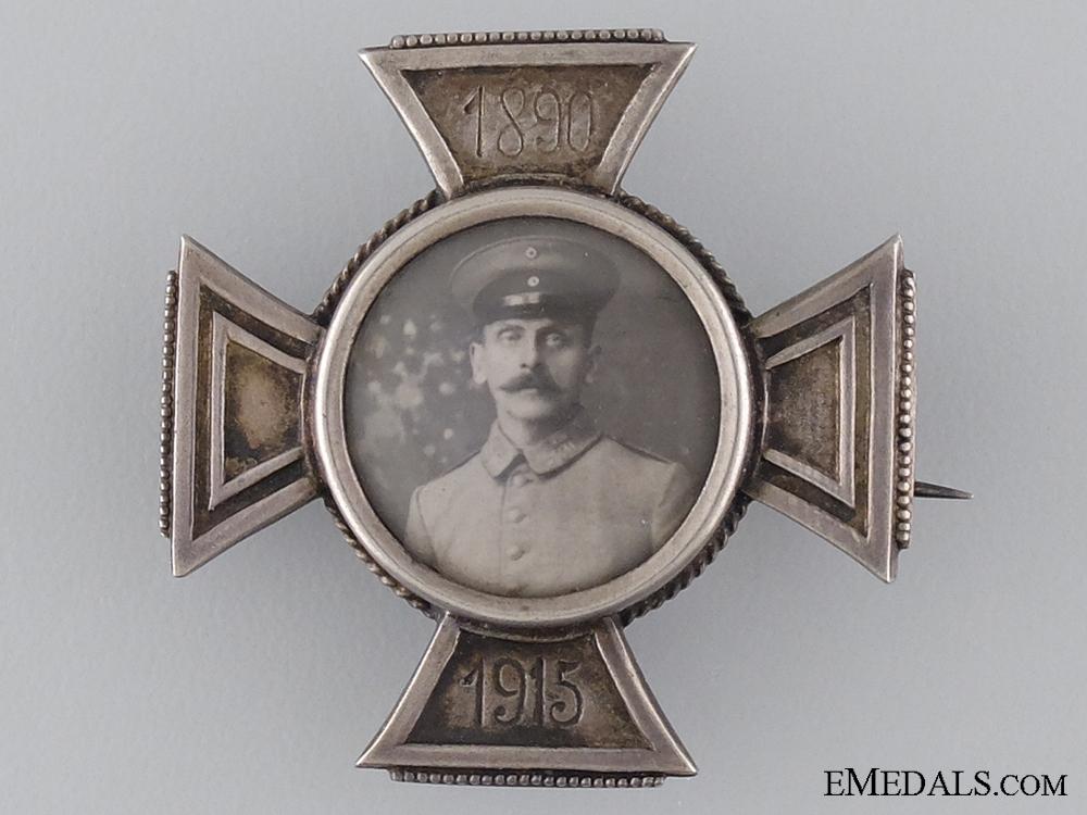 A First War Silver German Memorial Cross 1890-1915