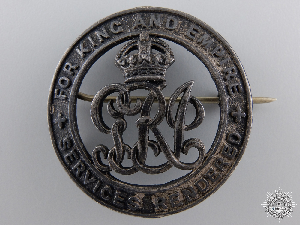 A First War Silver War Badge; Canadian Version  consignment 27