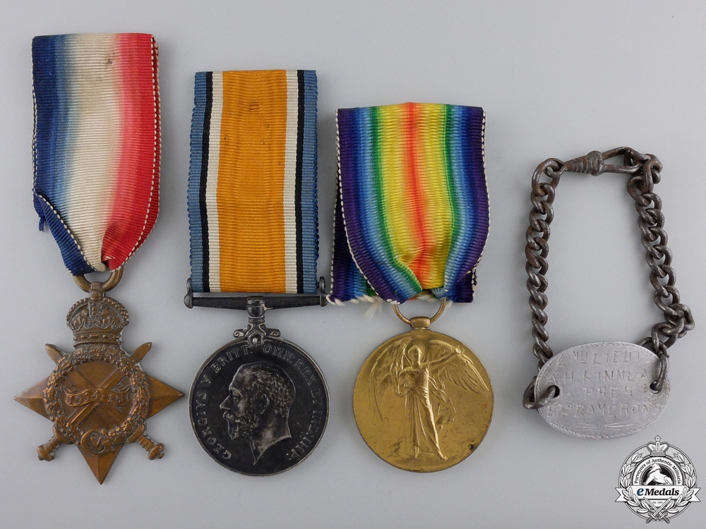 A First War Trio to 2nd Lieutenant Kinnear; Army Cycling Corps