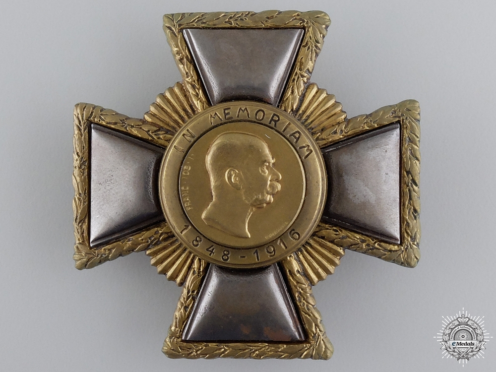 A Franz Joseph Memorial Cross; First Class by R.Marschall