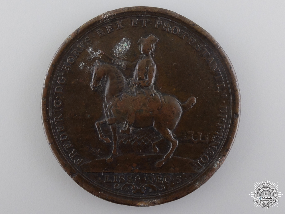 A Frederick the Great Battles of Lissa and Rossbach Medal